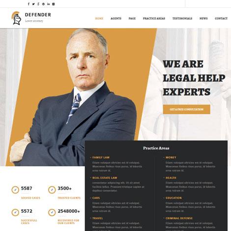 Defender: WordPress Theme for Lawyers