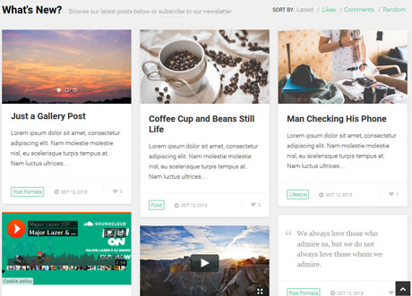 PostBoard: Pinterest Style Theme for Content Curators