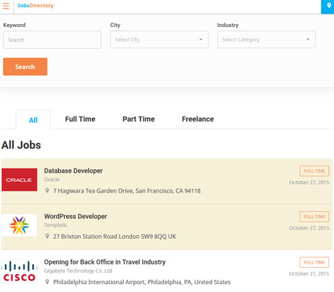Jobs Directory Theme for WordPress