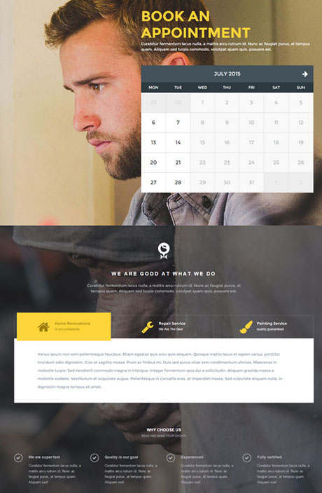 Worker for WordPress: Small Business Booking Theme