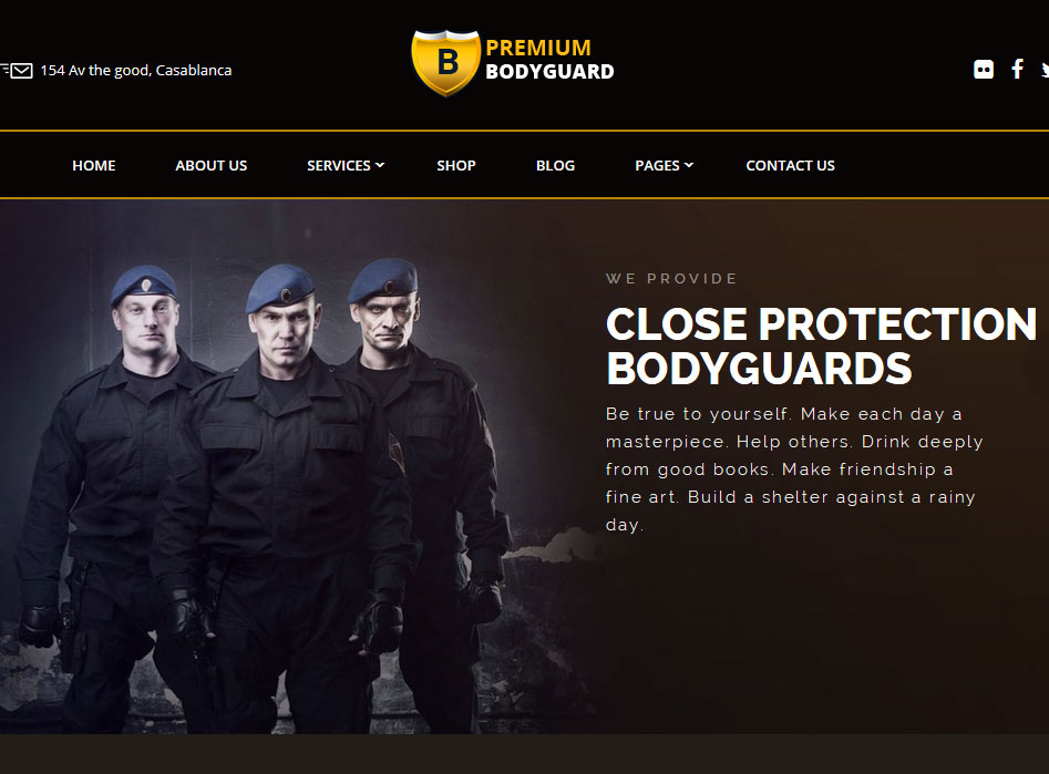 Bodyguard WordPress Theme for Security Companies