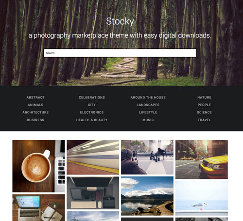 Stocky: Stock Photo Marketplace Theme for WordPress