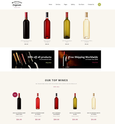 WineShop: WordPress Theme for Wine Shops