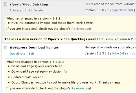 Changelogger for WordPress Shows Plugin Changes