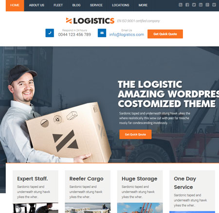 8 WordPress Themes for Logistics Businesses