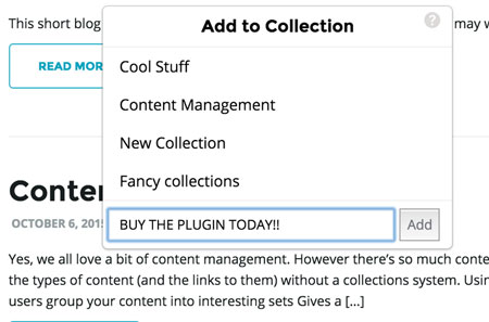 How to: Add Collections to WordPress