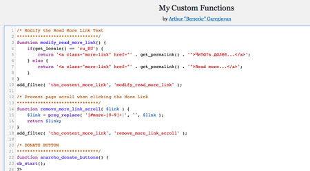 My Custom Functions for WordPress: Add Your Own Functions