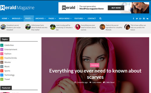 Herald: WordPress Theme for News Sites & Magazines