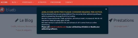 Adblock Notify for WordPress: Detect & Notify Adblock Users