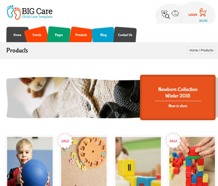Big Care for WordPress: Child Care + Shop Theme