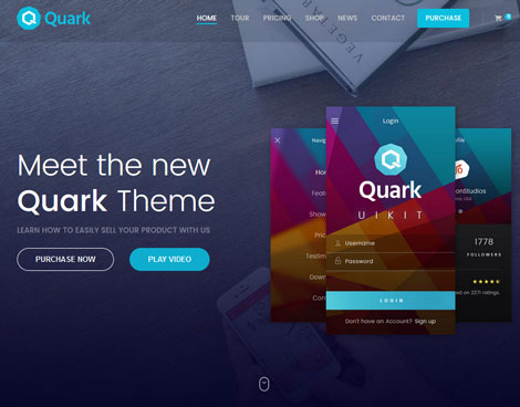 Quark: Single Product E-Commerce Theme for WordPress