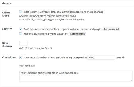 WP Ultimate Demo - WordPress Demo Plugin