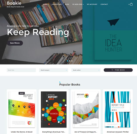 Bookie: WordPress Theme for Book Sites