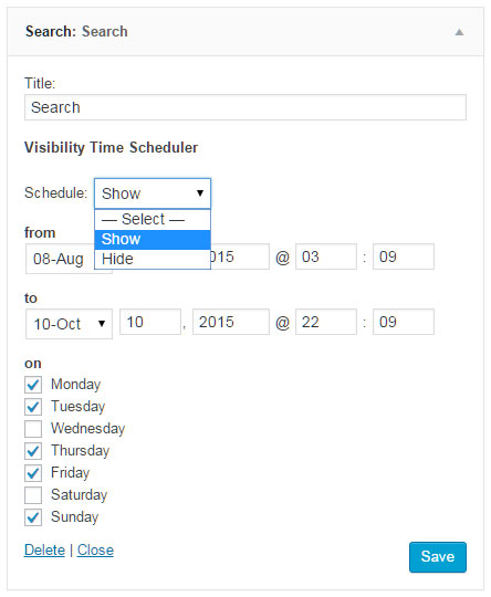 Widget Visibility Time Scheduler: Make WP Widgets Visible Based On Date