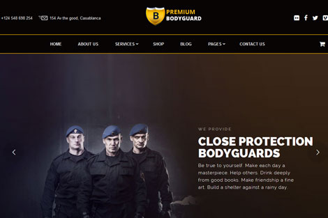 7 WordPress Themes for Police Departments & Security Businesses