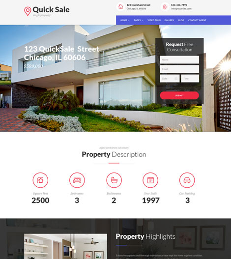 Quick Sale: Single Property Real Estate Theme