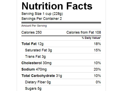 nutrition-label-plugin