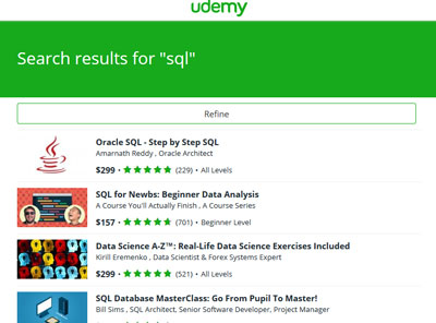 Learn SQL Interactively: 15 Sites