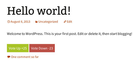 Thumbs Rating: Add Vote Up/Down Buttons to WordPress
