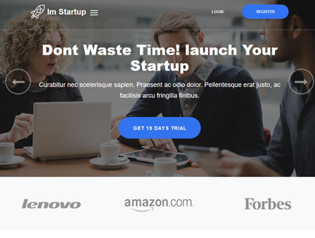 ImStartup: Startup Landing Page for WordPress