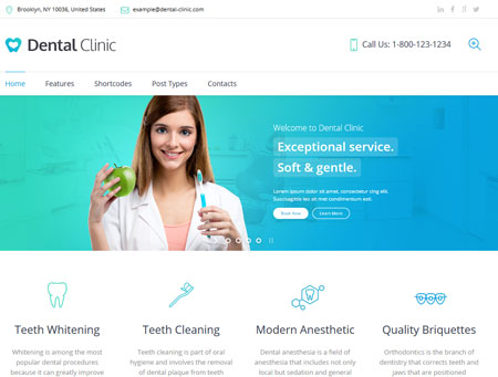 Dental Clinic WordPress Theme for Dentists