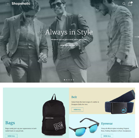 Shopoholic Theme for WooCommerce
