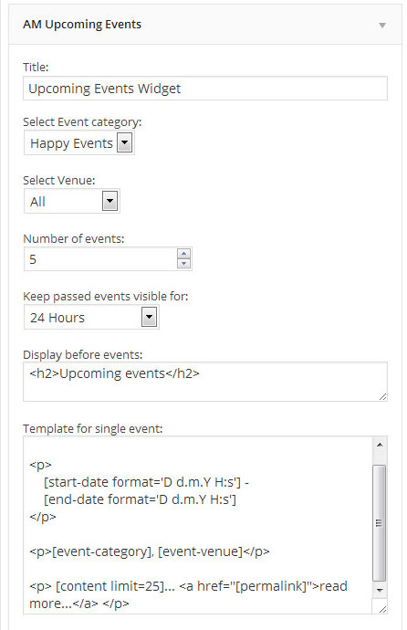 AM Events for WordPress: Add Events To Your Site