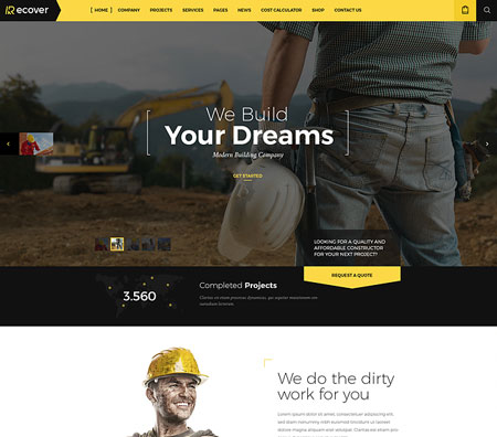 Recover-construction-theme