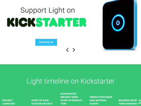 Studio Light WordPress Theme for Kickstarter Campaigns