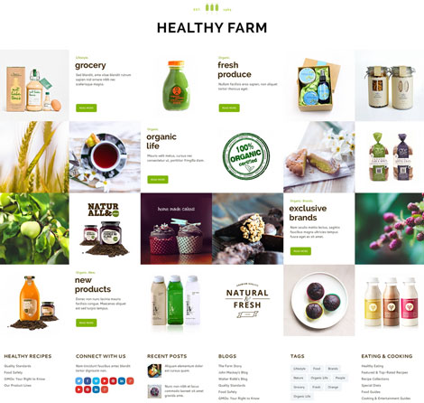 Healthy Farm: Agriculture WordPress Theme