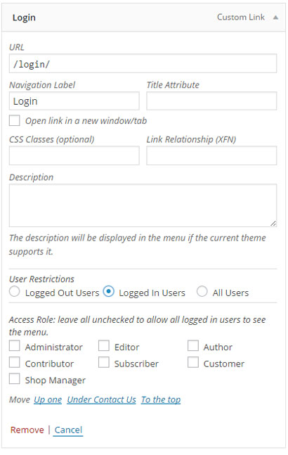 Privilege Menu for WordPress: Display Role-based Menus