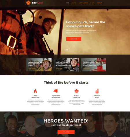 3 WordPress Themes for Fire Departments