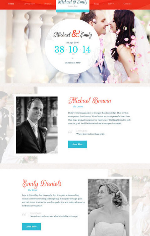 Wedding Premium WordPress Theme