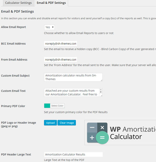 WP Amortization Calculator WordPress Plugin