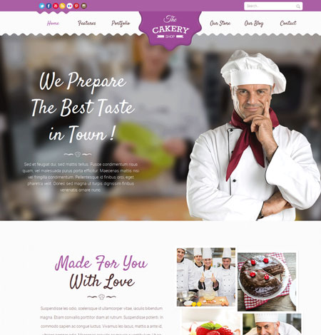 7 WordPress Themes for Cake Shops & Blogs