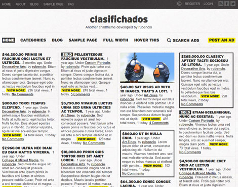 Clasifichados: Classic Classified Ads Theme