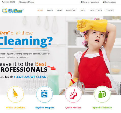 We Clean: WordPress Theme for Cleaning Companies