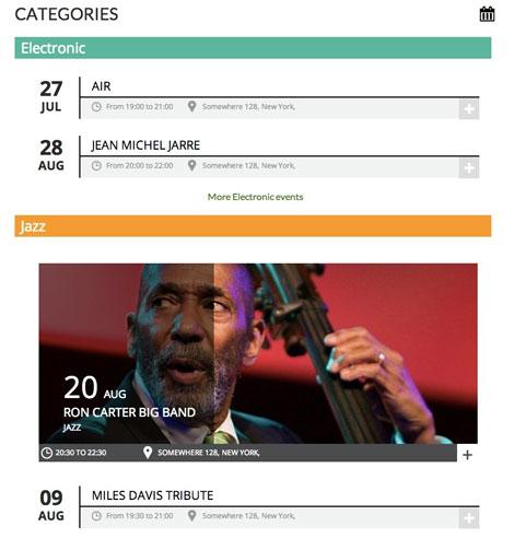 Chronosly Events Calendar: Display Event Lists in WordPress