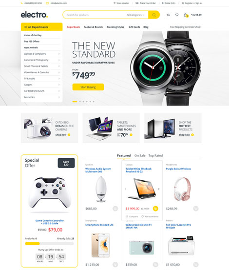 Electro Electronics Store for WooCommerce