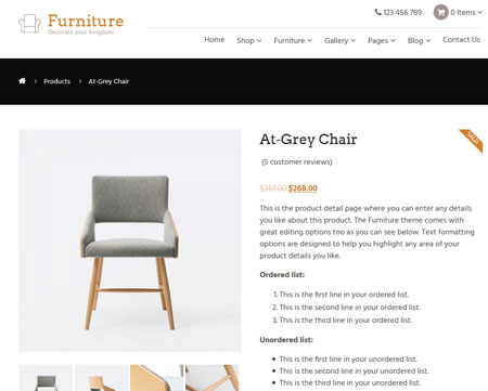 Furniture Theme for WooCommerce
