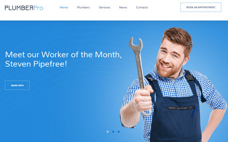 Plumbing Pro Responsive WordPress Theme