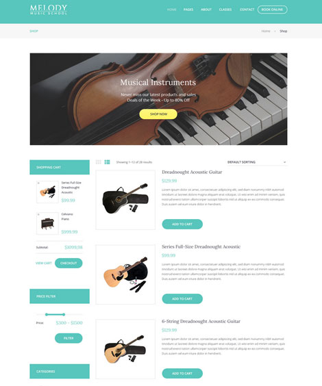 Melody: Music School Theme for WordPress