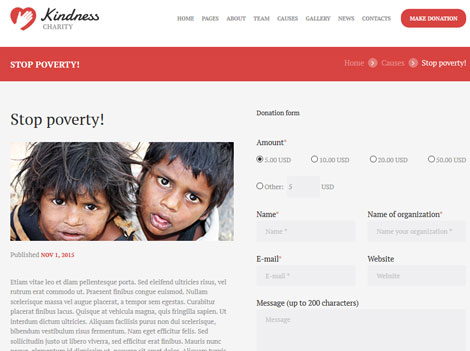 Kindness: WordPress Theme for Charity Organizations