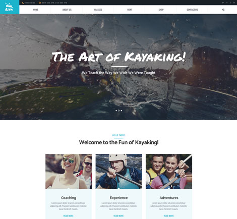 Kayaking Theme for WordPress