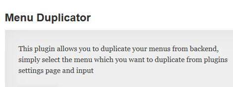 Menu-Duplicator