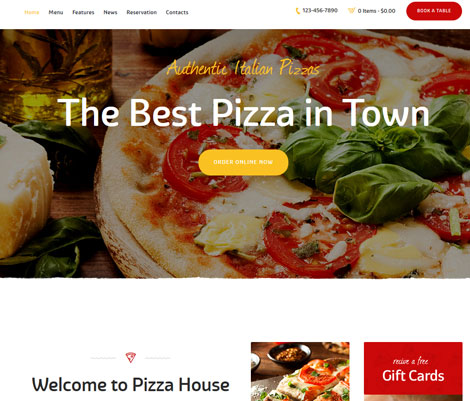 Pizza House: WordPress Theme for Pizza Businesses
