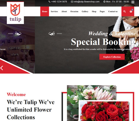 Tulip: WordPress Theme for Flower Shops