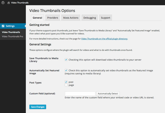 Video Thumbnails for WordPress