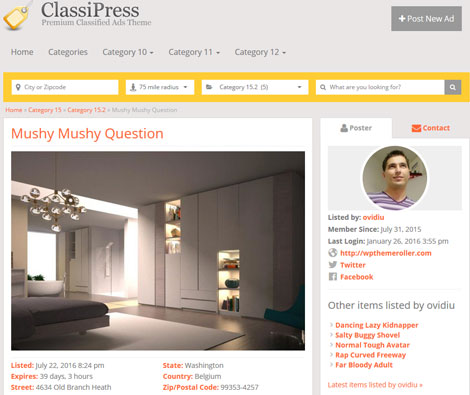 ClassiPost Responsive Classified Theme