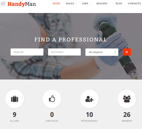 Handyman Job Board Theme for WP Job Manager